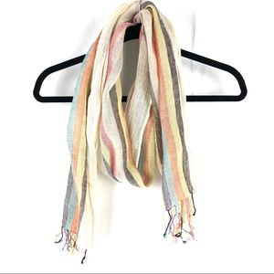 Coldwater Creek Multicolor Linen Scarf